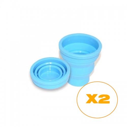 Pack de 2 vasos plegables